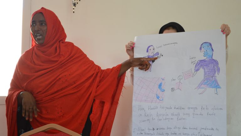 Somali woman participating in ThinkPlace workshop