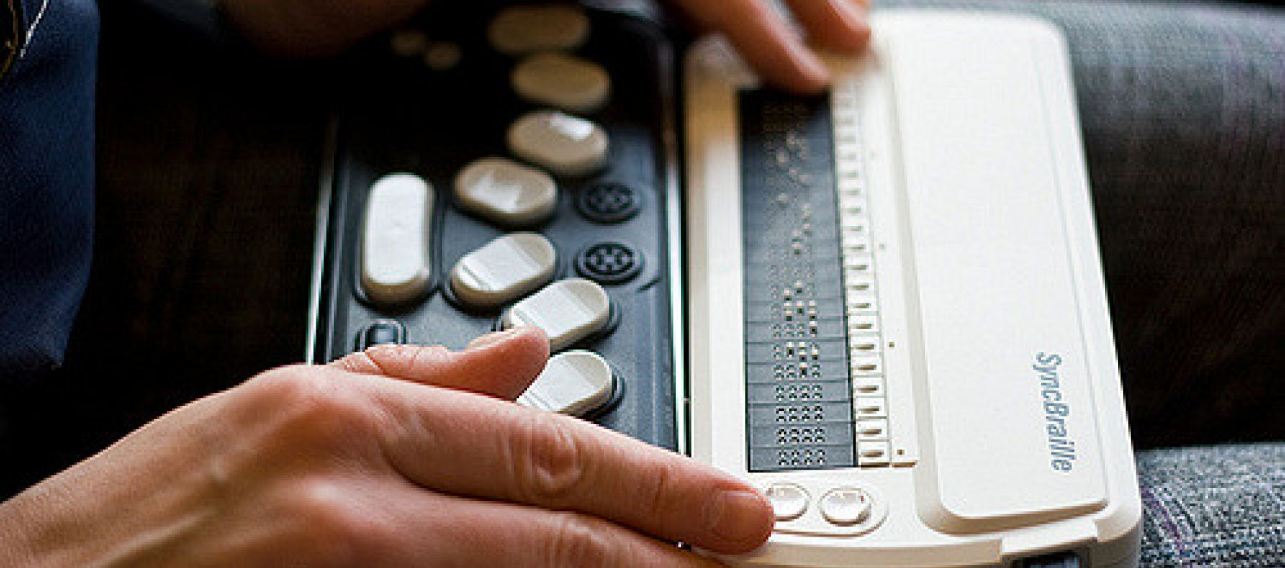 A refreshable braille display