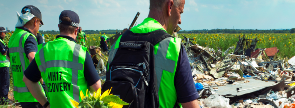 Australian Federal Police at the MH17 crash site