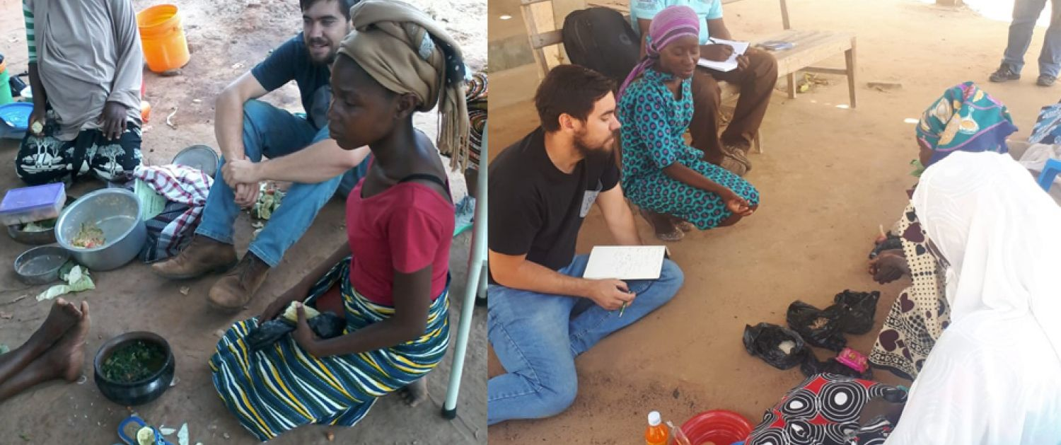 Eliot Duffy from ThinkPlace engaging with the local community in Nigeria