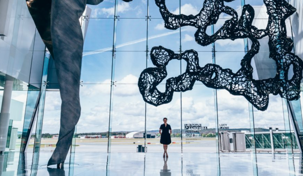 A sculpture at Canberra airport