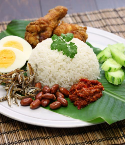 Nasi Lemak is a popular Singaporean dish